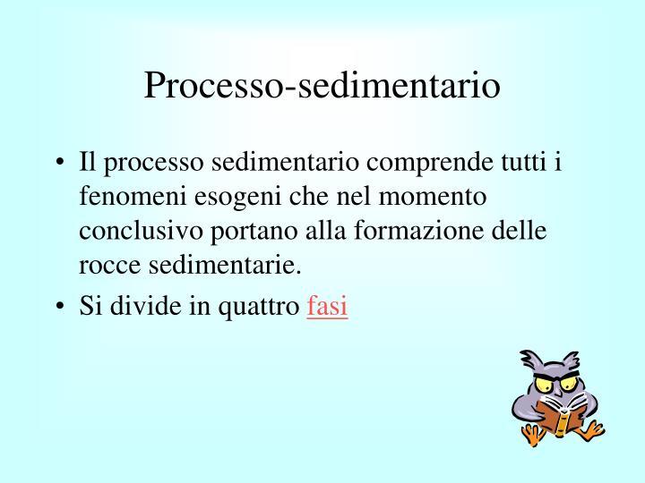 Processo sedimentario1