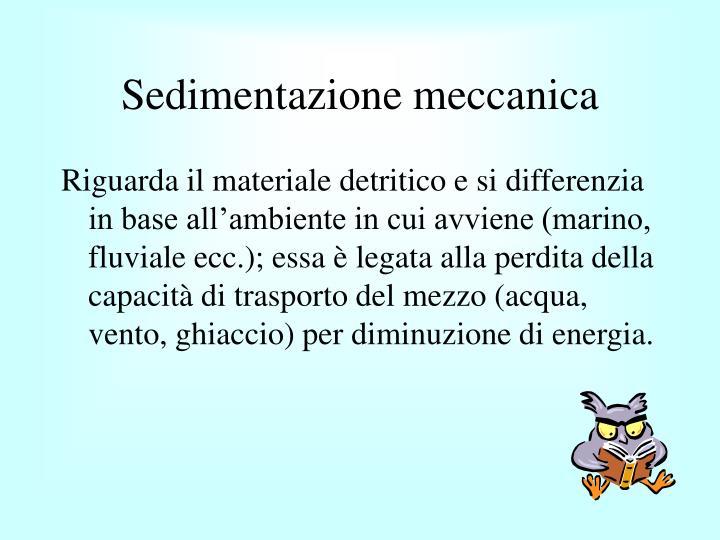 Sedimentazione meccanica