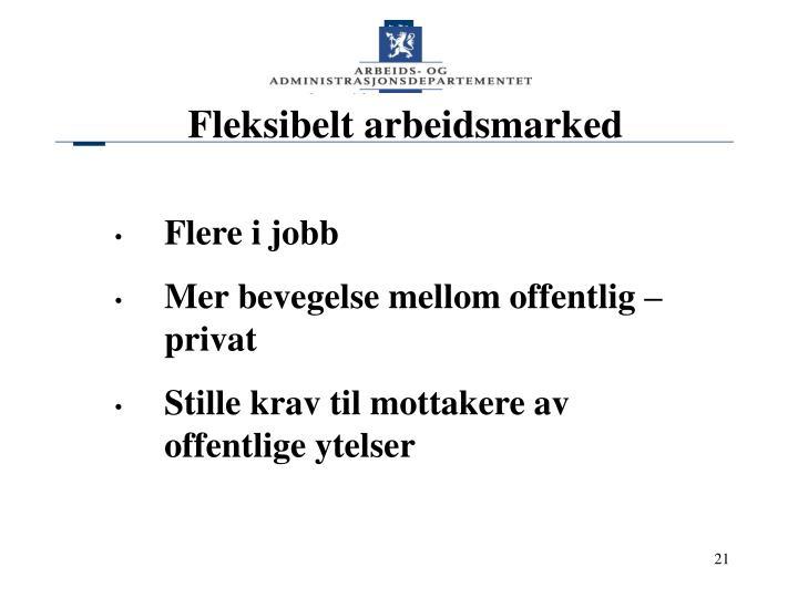 Fleksibelt arbeidsmarked