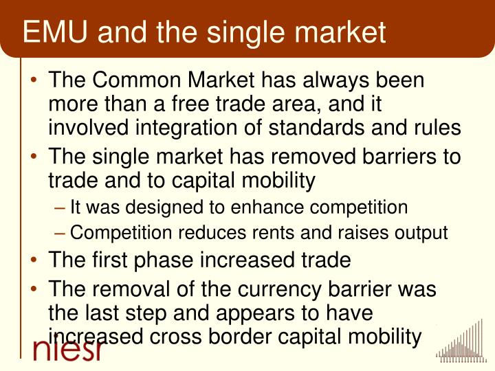 EMU and the single market