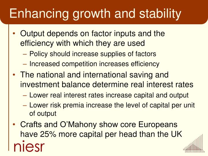 Enhancing growth and stability