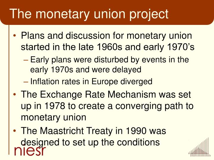 The monetary union project