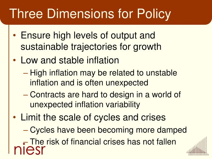 Three Dimensions for Policy
