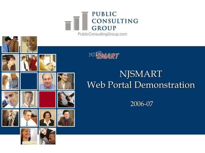 Njsmart web portal demonstration 2006 07