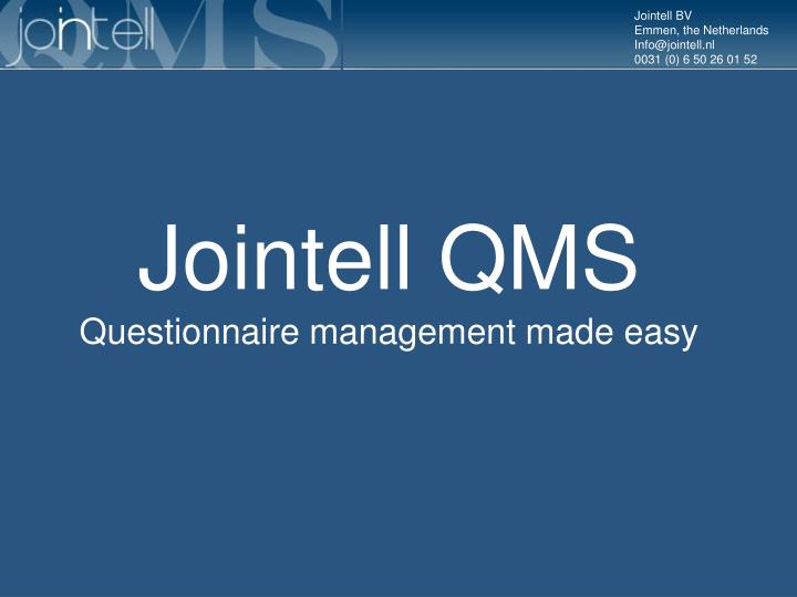 Jointell QMS