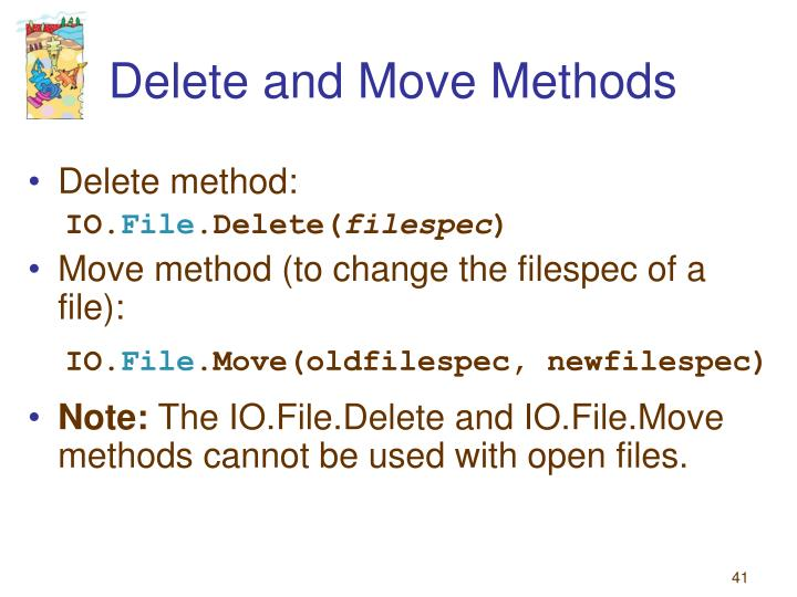 Delete and Move Methods