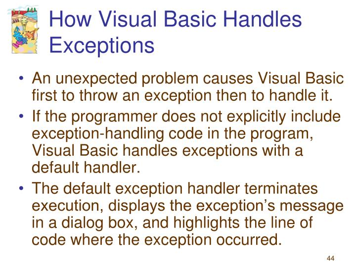 How Visual Basic Handles Exceptions