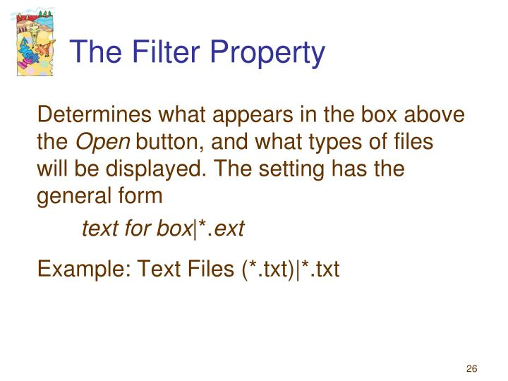The Filter Property