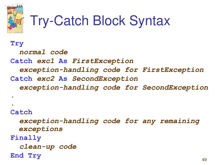 Try-Catch Block Syntax