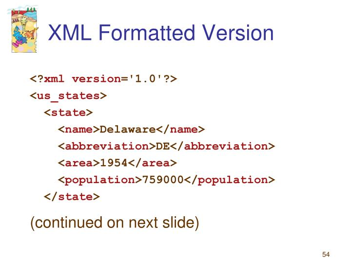 XML Formatted Version