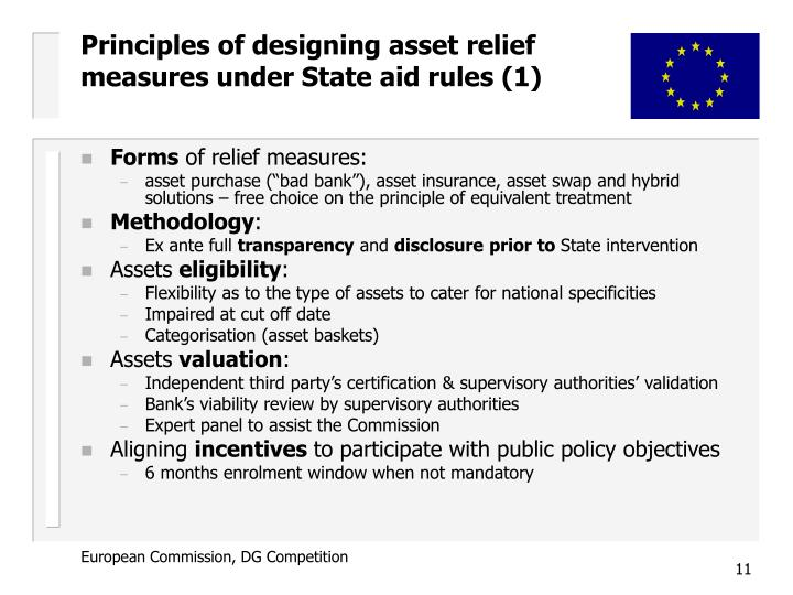 Principles of designing asset relief measures under State aid rules (1)