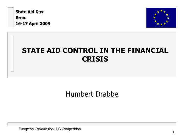 State aid control in the financial crisis