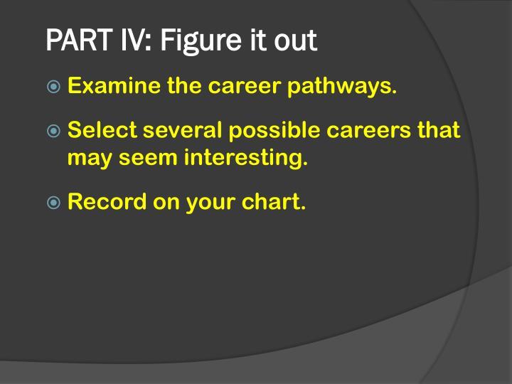 PART IV: Figure it out