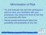 minimisation of risk1