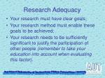 research adequacy1