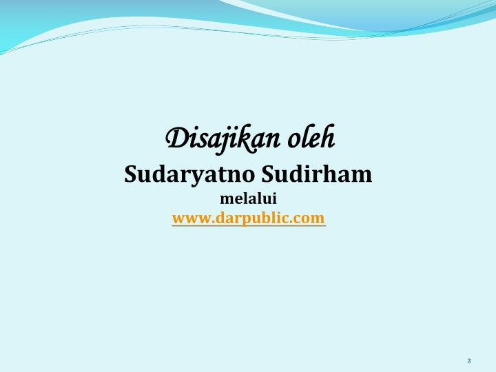 Disajikan oleh sudaryatno sudirham melalui www darpublic com