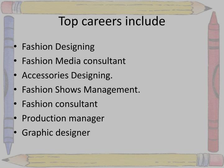 Top careers include