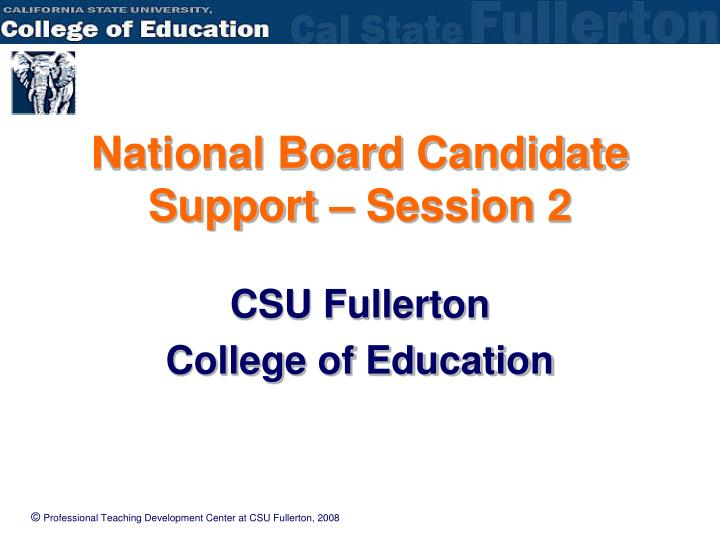 national board candidate support session 2