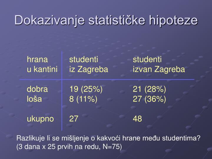 Dokazivanje statističke hipoteze