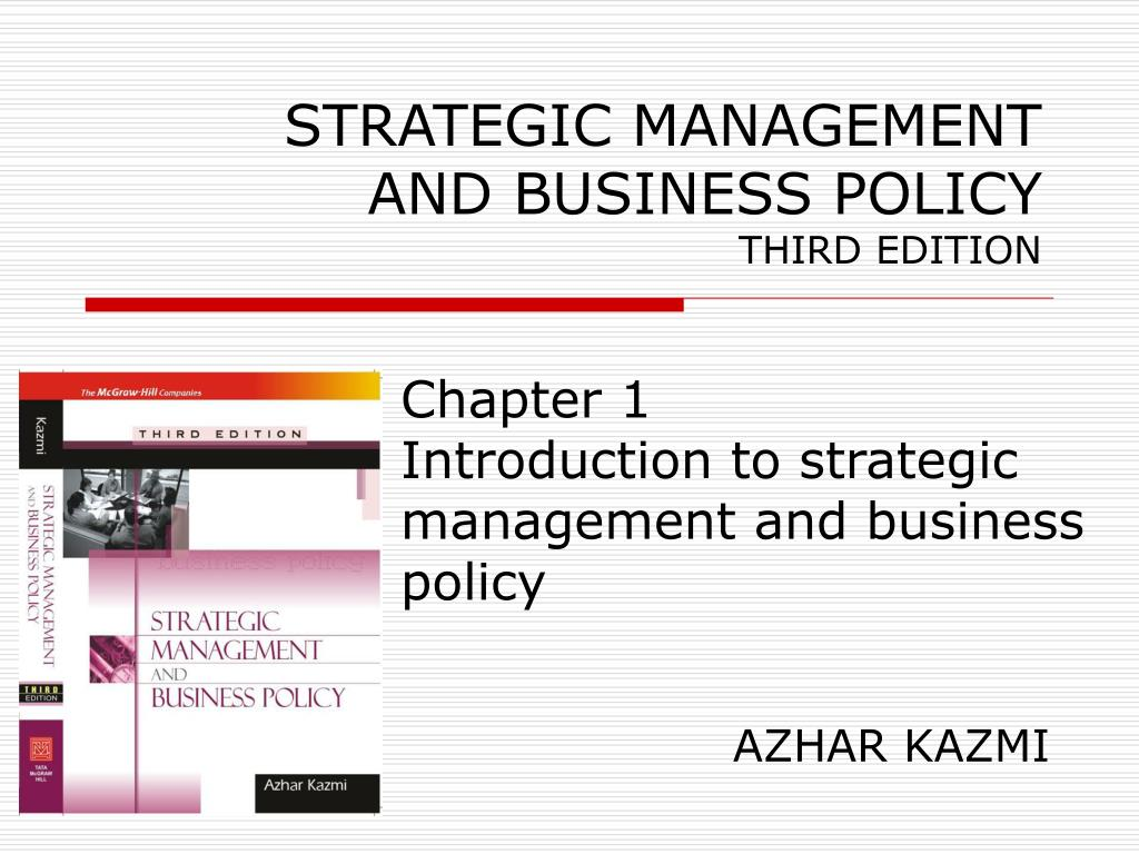 Ppt Strategic Management And Business Policy Third Edition