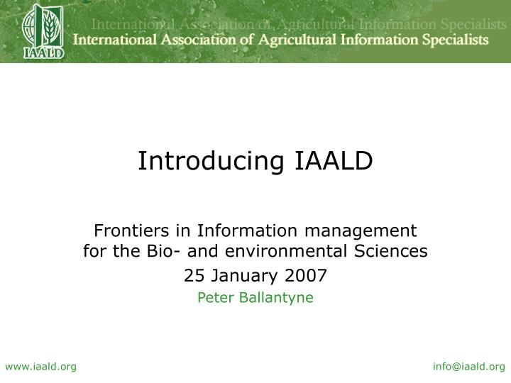 introducing iaald n.