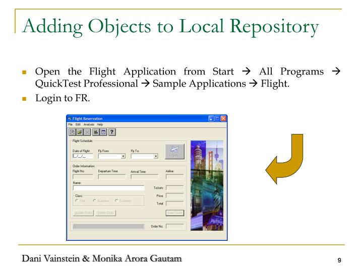 Adding Objects to Local Repository