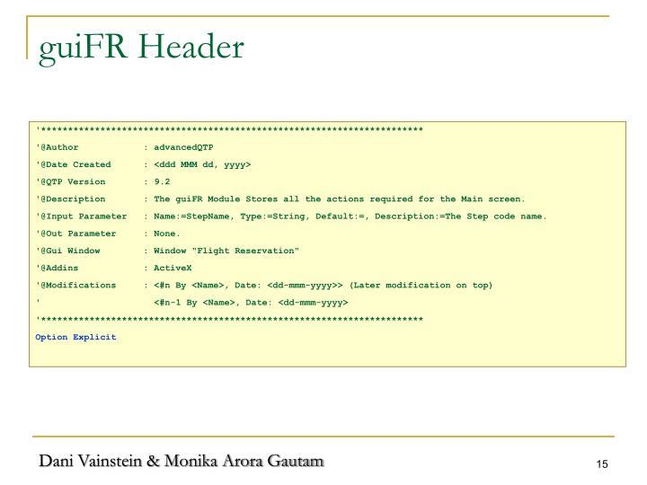 guiFR Header