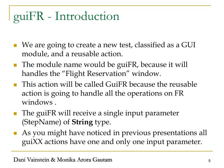 guiFR - Introduction