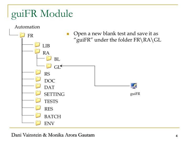 guiFR Module