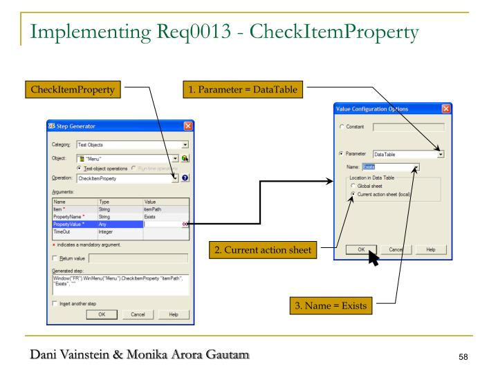 Implementing Req0013 - CheckItemProperty