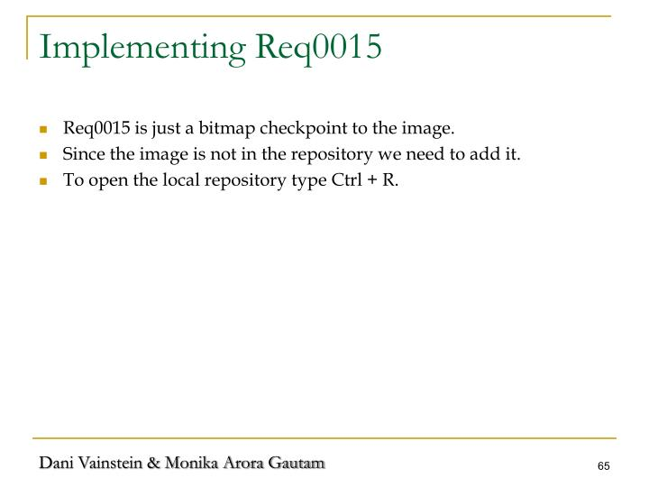 Implementing Req0015