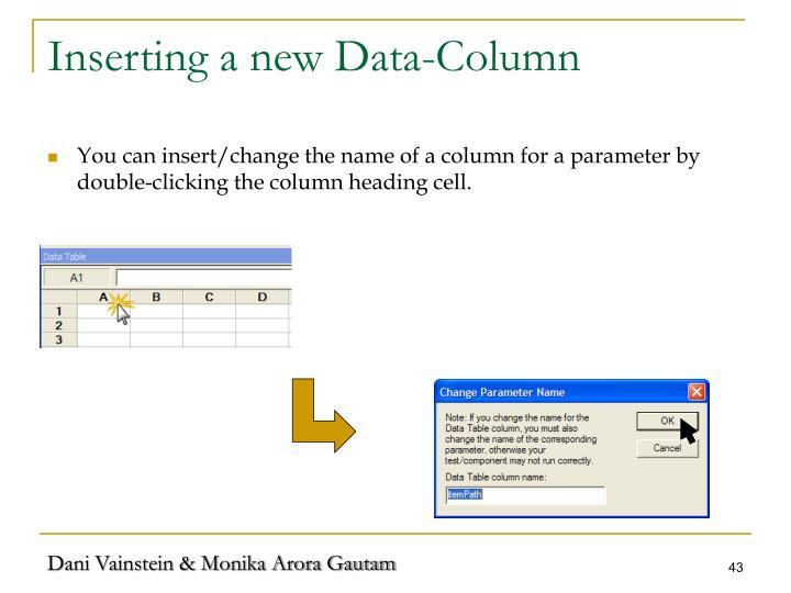 Inserting a new Data-Column