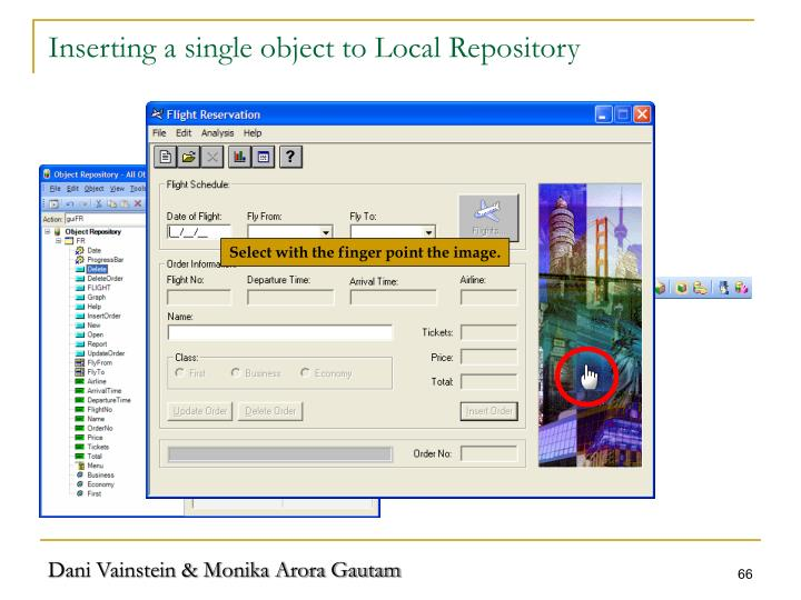 Inserting a single object to Local Repository