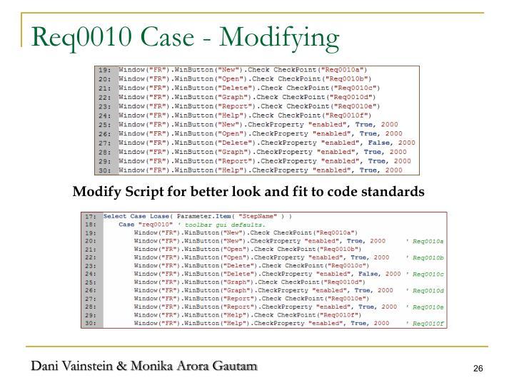 Req0010 Case - Modifying