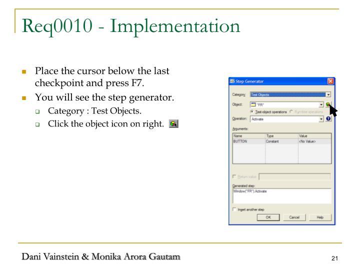 Req0010 - Implementation