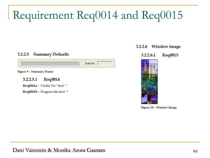 Requirement Req0014 and Req0015