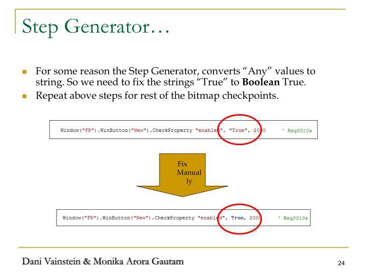 Step Generator…