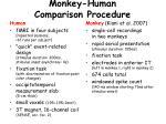 monkey human comparison procedure
