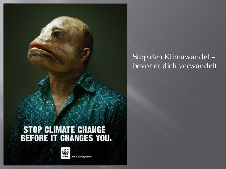Stop den Klimawandel – bevor er dich verwandelt