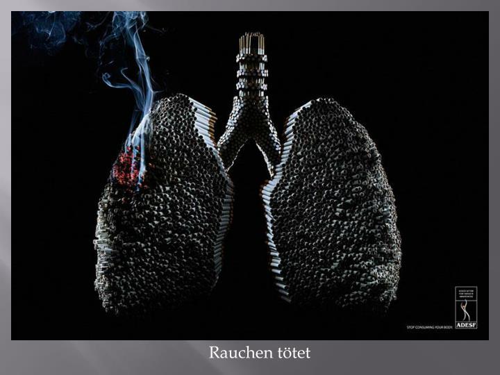 Rauchen tötet