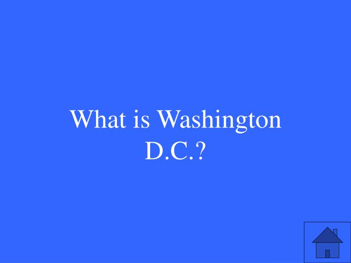 What is Washington D.C.?