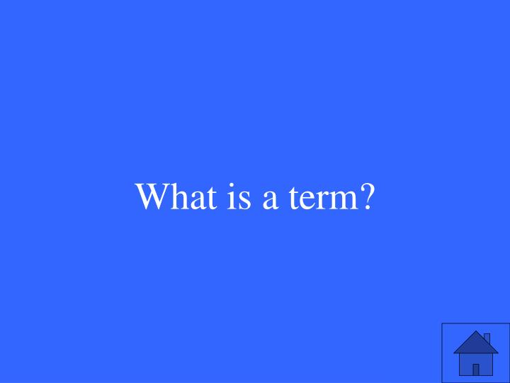 What is a term?