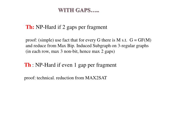 WITH GAPS…..