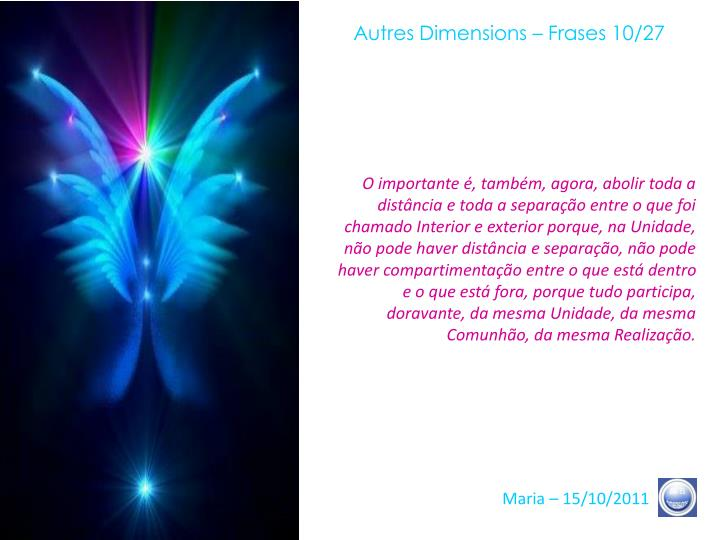 Autres Dimensions – Frases 10/27
