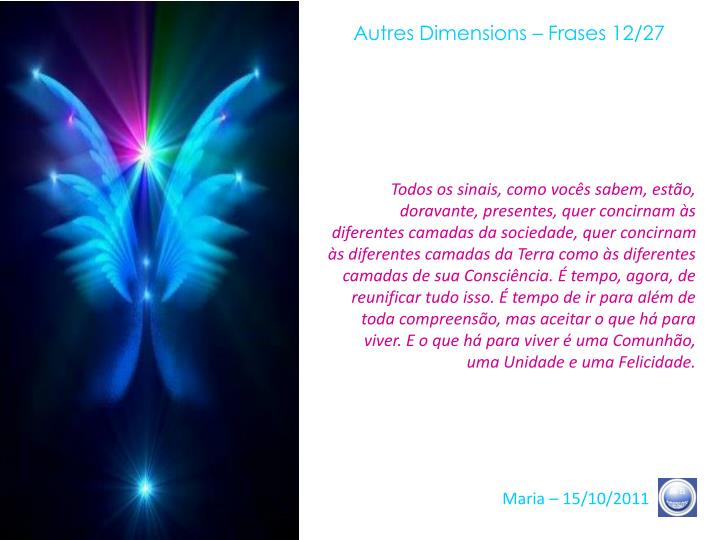 Autres Dimensions – Frases 12/27