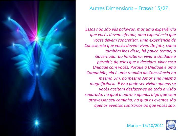 Autres Dimensions – Frases 15/27