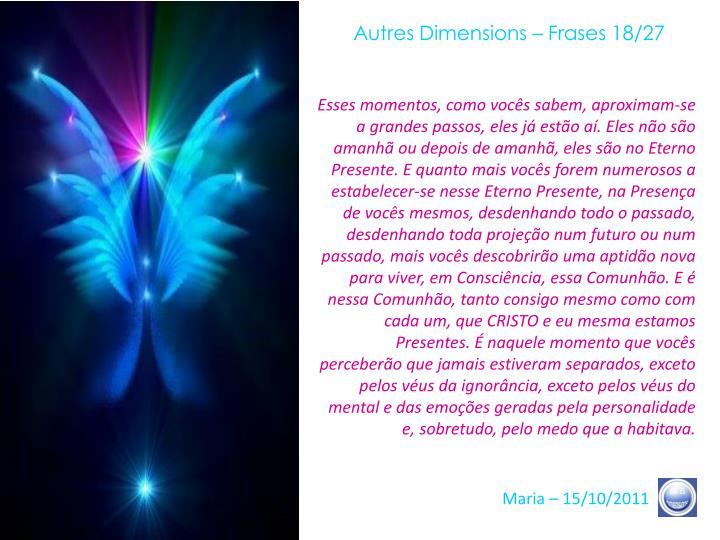 Autres Dimensions – Frases 18/27