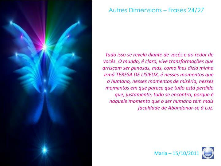 Autres Dimensions – Frases 24/27