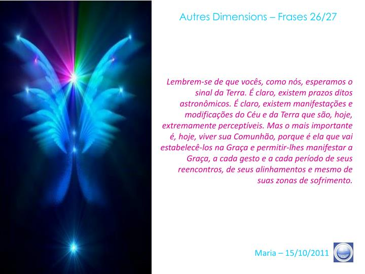 Autres Dimensions – Frases 26/27