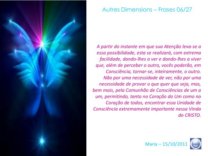 Autres Dimensions – Frases 06/27